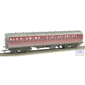 34-608 Bachmann OO/HO BR Mk1 Suburban Second Open Crimson Weathered by TMC