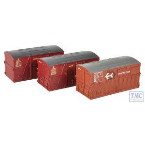 36-004A Bachmann OO Gauge BD Large Containers Bauxite & Crimson (x3)