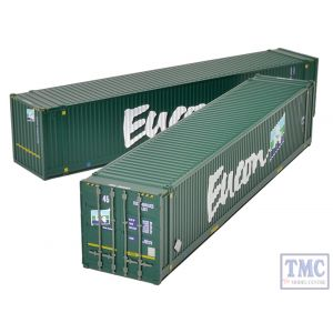 36-101 Bachmann OO Gauge 45ft Containers 'Eucon' (x2)