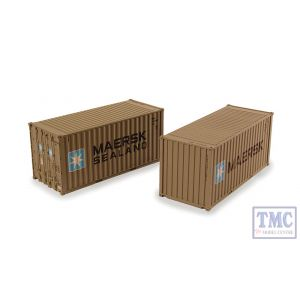 36-126 Bachmann OO Gauge 20ft Containers (x2) 'Maersk'