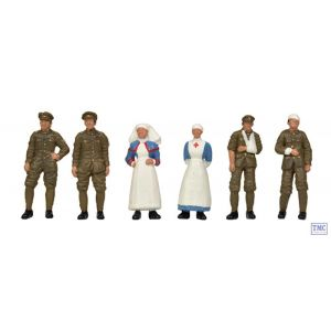 36-409 OO Gauge Scenecraft WW1 Medical Staff and Soldiers