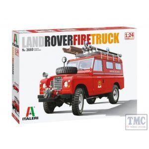 3660 Italeri 1/24 Land Rover Fire Truck (Plastic Kit)