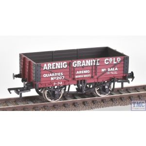 33-085B Branchline OO Gauge 5 Plank China Clay Wagon BR Bauxite (TOPS) With Hood