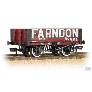 37-064 Bachmann OO Gauge 5 Plank Wagon Wooden Floor 'Farndon'