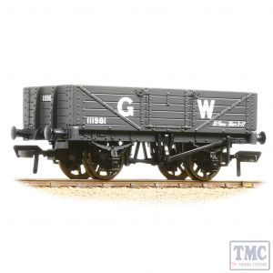 37-068 Bachmann OO Gauge 5 Plank Wagon Wooden Floor GWR Grey