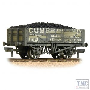 37-071 Bachmann OO Gauge 5 Plank Wagon Wooden Floor Cumberland Weathered - with Wagon Load