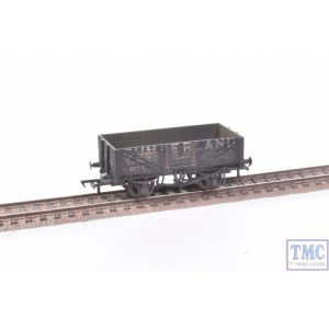 37-071 Bachmann OO Gauge 5 Plank Wagon Wooden Floor Cumberland Grey (includes Wagon Load) Deluxe Weathering by TMC
