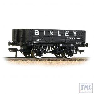 37-074 Bachmann OO Gauge 5 Plank Wagon Wooden Floor 'Binley' Black