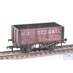 37-075R Bachmann OO Gauge Private Owner 7 Plank Wagon H.J.Redgate with Deluxe Weathering by TMC