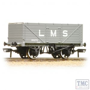 37-088 Bachmann OO Gauge 7 Plank End Door Wagon LMS Grey