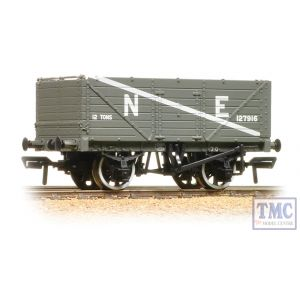 37-089 Bachmann OO Gauge 7 Plank End Door Wagon NE Grey