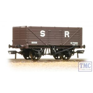 37-090 Bachmann OO Gauge 7 Plank End Door Wagon SR Brown