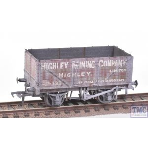37-093 Bachmann OO Gauge 7 Plank End Door Wagon 'Highley Mining Company Ltd' Weathered