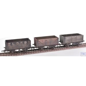 37-095A Bachmann OO Gauge 7 Plank Coal Trader Private Owner Wagons (Triple Pack) Deluxe Weathering by TMC