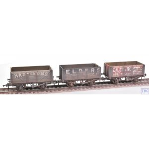 37-095A Bachmann OO Gauge Coal Trader' Pack 7 Plank Private Owner Wagons Weathered