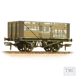 37-114 Bachmann OO Gauge 7 Plank Fixed End Wagon Baldwin Weathered