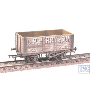 37-117 Bachmann OO Gauge 7 Plank Fixed End Wagon C.P. Perry with Deluxe Weathering by TMC