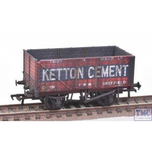 37-134B Bachmann OO Gauge 8 Plank End Door Wagon 'Ketton Cement'