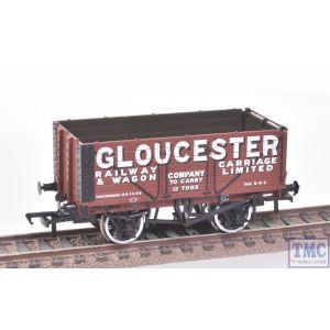 37-2012K Bachmann OO Gauge 7 Plank Wagon Gloucester Railway Carriage (BCC)(Mint)(Pre-owned)