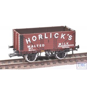 37-2016K Bachmann OO Gauge 7 Plank Wagon (End Door) Horlicks (BCC)(Mint)(Pre-owned)
