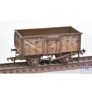 37-225J Bachmann OO Gauge BR 16T Steel Mineral Wagon Top Flap Doors BR Grey (Early) - Weathered