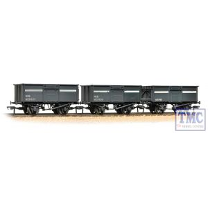37-236 Bachmann OO Gauge Triple Pack 16 Ton Steel Mineral Wagons NCB Grey Weathered