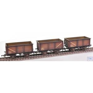 37-238 Bachmann OO Gauge Triple Pack 16 Ton Steel Mineral Wagon BR Bauxite