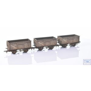 37-239 Bachmann OO Gauge Triple Pack 16 Ton Steel Mineral Wagon BR Grey with Loads Weathered