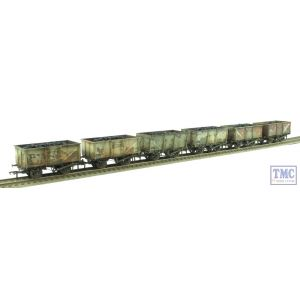 37-265Z Bachmann OO Gauge 16 Ton Mineral Wagon Six Pack BR Grey *TMC Ltd Edition* Real Coal Loads & Deluxe Weathering by TMC