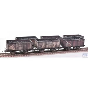 37-265Z Bachmann OO Gauge 16 Ton Mineral Wagon Six Pack BR Grey *TMC Ltd Edition* Real Coal Loads & Weathered by TMC