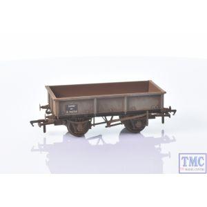 37-354D Bachmann OO Gauge BR 13T Steel Sand Tippler BR Grey (Early) - Includes Wagon Load