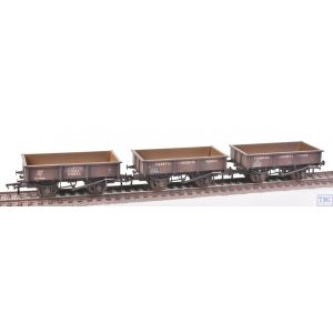 38-340 Bachmann OO Gauge Triple Pack 13 Ton High Sided Steel Open Wagons BR Bauxite-Weathered