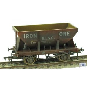 37-506 Bachmann OO/HO 24 Ton Ore Hopper Wagon 'B.I.S.C. Iron Ore' Weathered by TMC