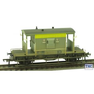 37-533 Bachmann OO Gauge 20 Ton ZTO Brake Van BR Grey & Yellow (Dutch) Weathered by TMC