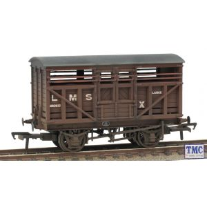 37-708A Bachmann OO Gauge LMS 12T Cattle Wagon LMS Bauxite Weathered by TMC
