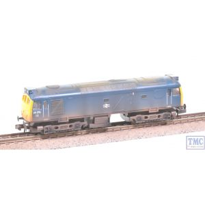 371-080 Graham Farish N Gauge Class 25/3 25279 BR Blue Weathered by TMC
