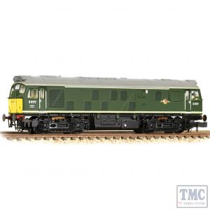 371-085A Graham Farish N Gauge Class 25/1 D5177 BR Green (Small Yellow Panels)