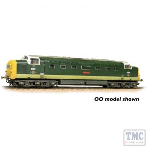 371-289 Graham Farish N Gauge Class 55 'Deltic' D9001 'St. Paddy' BR Two-Tone Green (Full Yellow Ends) - Weathered