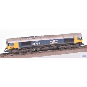 371-389 Graham Farish N Gauge Class 66/7 66789 'British Rail 1948-1997' GBRf BR Blue (Large Logo)