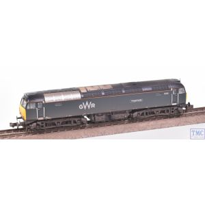 371-660 Graham Farish N Gauge Class 57/6 57603 Tintagel Castle GWR Green (FirstGroup) with VALUE Weathering by TMC