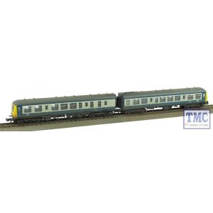 371-877A Graham Farish N Gauge Class 108 2 Car DMU BR Blue & Grey Weathered by TMC