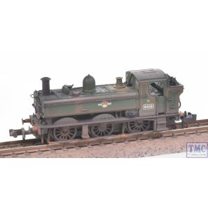 371-988 Graham Farish N Gauge GWR 64XX Pannier Tank 6419 BR Lined Green L/Crest Real Coal & Weathered by TMC