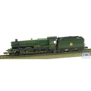 372-031 Graham Farish N Gauge Castle Class 5041 'Tiverton Castle' BR Green E/Emb Real Coal & Weathered by TMC