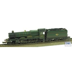 372-032 Graham Farish N Gauge Castle Class 5070 Sir Daniel Gooch BR Lined Green L/Crest Real Coal & Weathered by TMC
