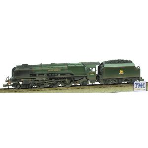 372-181A Graham Farish N Gauge Princess Coronation Class 46221 Queen Elizabeth BR Green E/Emb Real Coal Glossed & Weathered by TMC