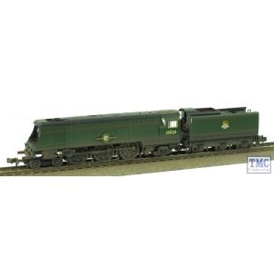 372-311 Graham Farish N Gauge Merchant Navy Class 35023 Holland-Afrika Line BR Green E/Emb Real Coal Weathered by TMC