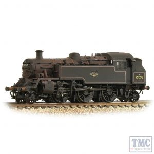 372-330 Graham Farish N Gauge BR Standard 3MT Tank 82029 BR Lined Black (Late Crest) - Weathered