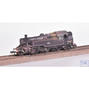372-330 Graham Farish N Gauge BR Standard 3MT Tank 82029 BR Lined Black (Late Crest) - Weathered