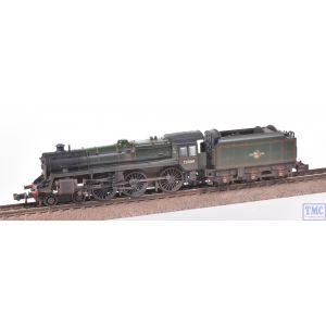 372-725 Graham Farish N Gauge Standard Class 5MT 73068 BR Green L/Crest *DCC Fitted* Real Coal & Weathered by TMC (Pre-owned)