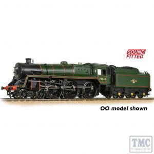 372-728SF Graham Farish N Gauge BR Standard 5MT with BR1 Tender 73049 BR Lined Green (Late Crest) - Sound Fitted